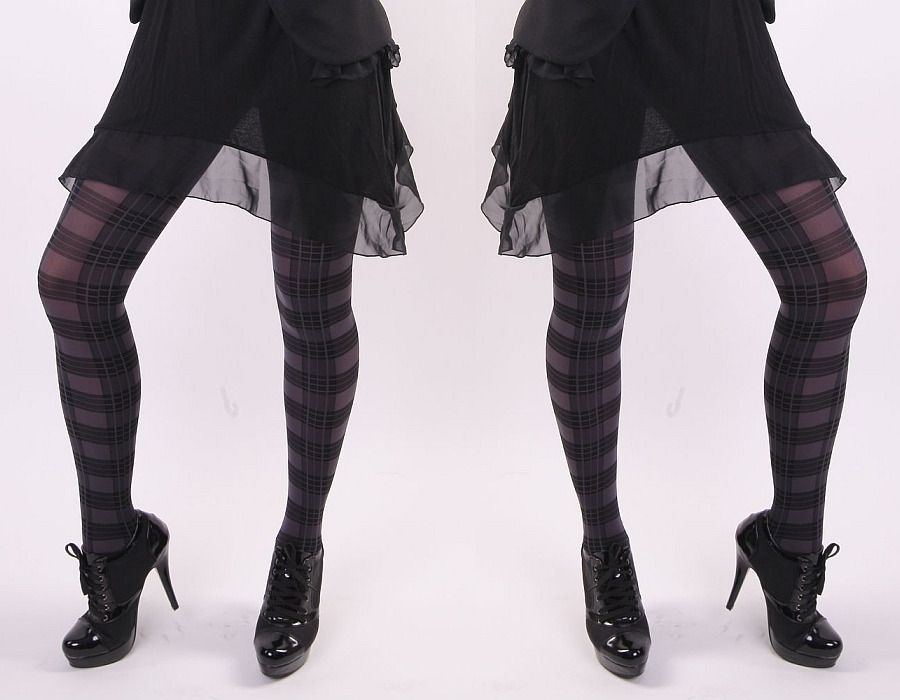 Dámské punčochové kalhoty TARTAN šedé