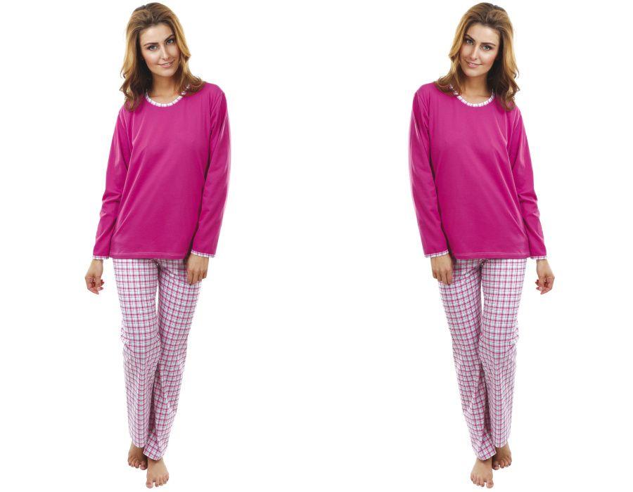 Dámské pyžamo Růžové káro