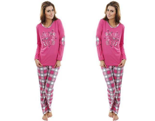 Dámské pyžamo Růžové s potiskem