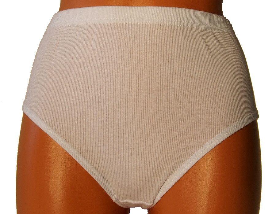 Klasické vysoké kalhotky Andrie PS1710 bílé L