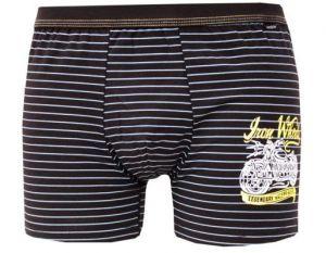 Pánské boxerky z elastické bavlny a modalu PS5286 černé