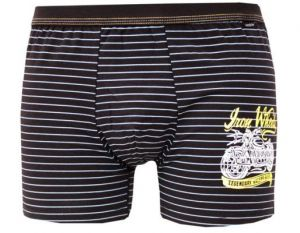 Pánské boxerky z elastické bavlny a modalu Andrie PS5286 černé