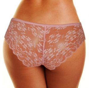Pinky kalhotky s krajkovým zadním dílem