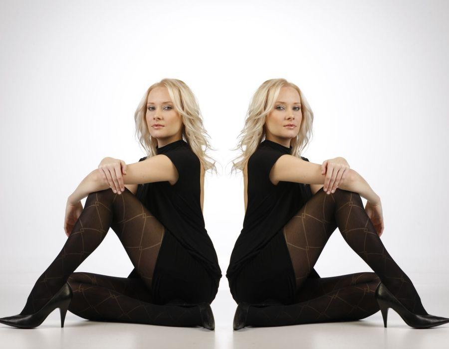 Punčochové kalhoty AMANDA černé