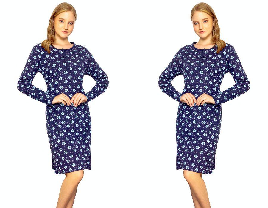 Dámská košilka La Penna s modrými květy