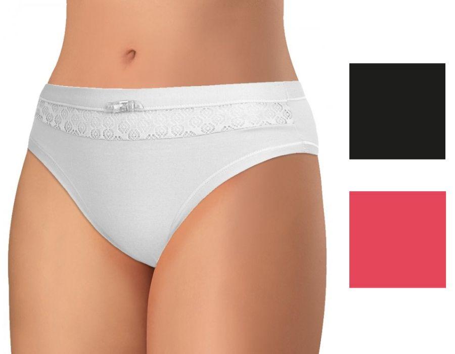 Dámské krajkové kalhotky z elastické bavlny PS2636