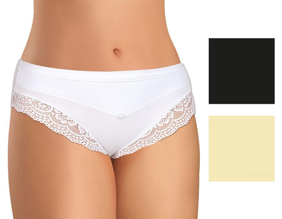 Dámské krajkové kalhotky z elastické bavlny PS2699