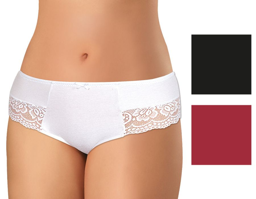 Dámské krajkové kalhotky z elastické bavlny PS2711