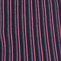 Pánské bavlněné trenýrky Molvy černé s modro červenými čárkami