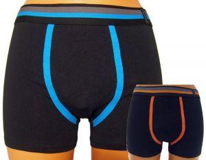 2 Pack Pánské boxerky Molvy černé s barevnou gumou