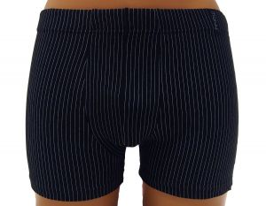 Pánské boxerky Molvy černé s jemným proužkem