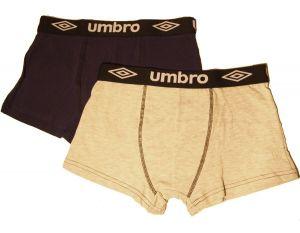 2 Pack Pánské boxerky Umbro UM1700 - šedé vzor 1