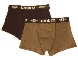 2 Pack Pánské boxerky Umbro UM1700 - šedé vzor 2