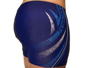 Pánské plavky boxerky Molvy modré s potiskem