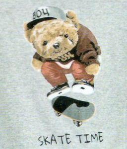Pánské pyžamo s medvědem skejťákem