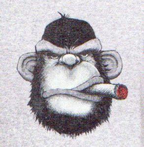 Pánské pyžamo s opicí pohodářem